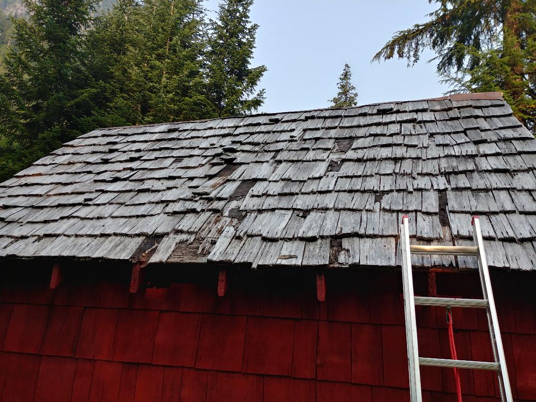 Badly decayed existing roof